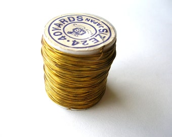 120 Feet Vintage Brass Jewelry Wire - Raw Brass Wire - Patina Brass Wire - Jewelry Findings - Jewelry Supplies