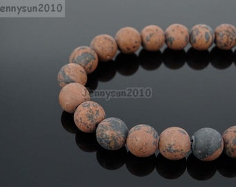 Natural Matte Mahogany Obsidian Frosted Gemstones 4mm 6mm 8mm 10mm 12mm Round Loose Spacer Beads 15'' Strand Jewelry Design