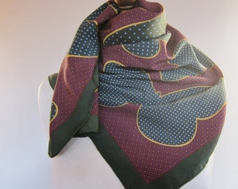 VALENTINO silk scarf, Italian vintage scarf, butterfly scarves, hand rolled, sophisticated silk square