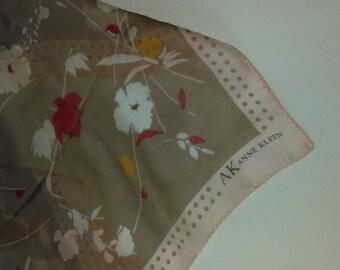 Anne Klein Pink Cocoa Floral Silk Scarf
