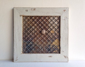 Framed Ceiling Tin Magnet Board Handmade with Barnwood