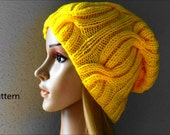 PDF Pattern, How To Knit A Ribbed Cable Hat