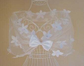 Wedding Lace Capelet,Flower.