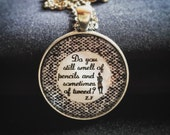 Bookish necklace: Zelda Fitzgerald's letter to Scott - Do you still smell of pencils and sometimes of tweed?