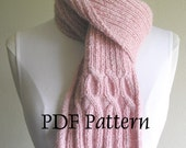 Breast Cancer Ribbin' Scarf -- PDF Pattern -- Knitting