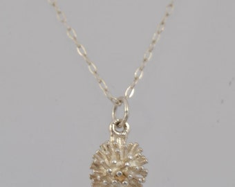 A Silver 925 Necklace With Hedgehog Pendent Charm