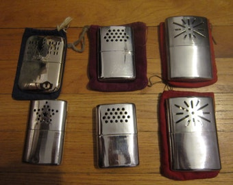 6 Vintage Metal Hand Warmers AS-IS