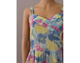Pastel cotton strap dress  SM