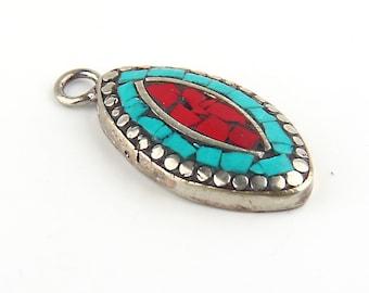 Mini Afghan Ethnic Pendant, Kuchi Pendant, 1 piece // ETH-028