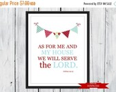 "ONSALE Bible Verse Joshua 24:15 ""We will Serve the Lord"" Bright and Colorful  PDF"