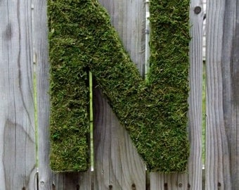 ONSALE Moss covered Letter