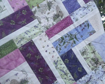 FEMALE QUILT, Thyme With Friends, herbs, herbs quilt, beehive, flowers