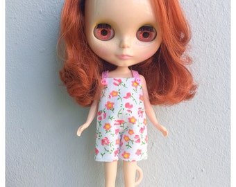 """Neo Blythe Outfit : """"Cherry Blossoms Dungarees"""" (Dungarees)"""
