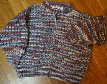 Vintage....hand knit childs sweater.....Free shipping....