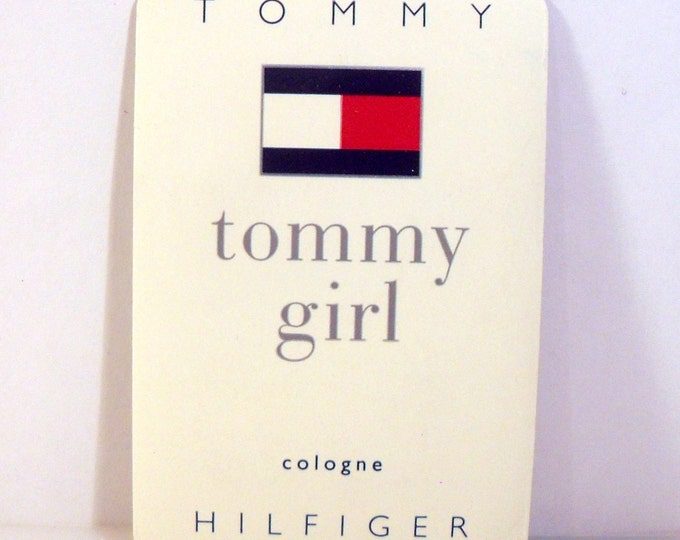 Vintage 1990s Tommy Girl by Tommy Hilfiger Cologne Sample Towelette PERFUME