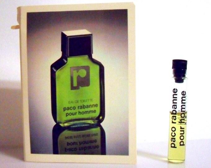 Vintage 1980s Paco Rabanne Pour Homme by Paco Rabanne Eau de Toilette Splash Sample PERFUME