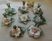 Mollica Capodimonte Card Holders RARE Set of 8 Gorgeous