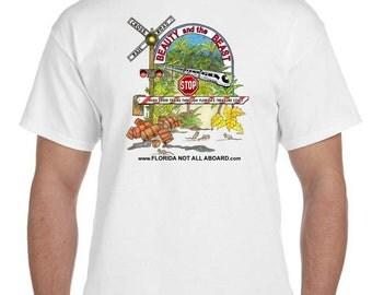 MEDIUM-Florida Not All Aboard T-shirt