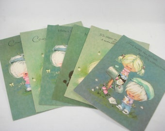 Vintage Get Well and Congratulations Greeting Cards Sets of 6 - 1970s