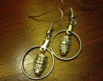 Surprised Owl Earrings