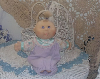 Mattel First Edition 1995 Cabbage Patch Doll Baby  14  Inches  Hard Plastic in  Sleeper/ Not Included In Discount Coupon Sale :)S