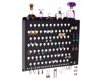 Earring Holder Wall Mount Jewelry Organizer Storage Rack Earring Organizer a great way to declutter your jewelry box, drawers and containers