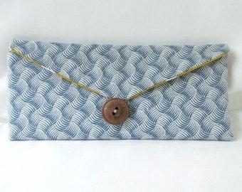 Blue Bi-Fold Wallet - Bifold Wallet - Blue Wallet - Women's Billfold - Blue Wallet - Blue Billfold - Women's Wallet