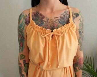 Peach Silk Gown