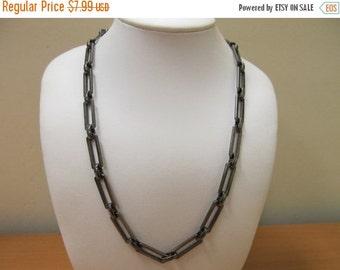On Sale Gunmetal Colored Link Chain Item K # 2299