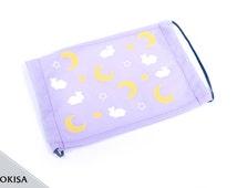 Fashion Mask, Dust Mask, Surgical Pastel Goth - Oyasumi Moon Bunny (Light Purple)