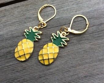 Pineapple Earrings/Fruit/Mod/Modern/Fun