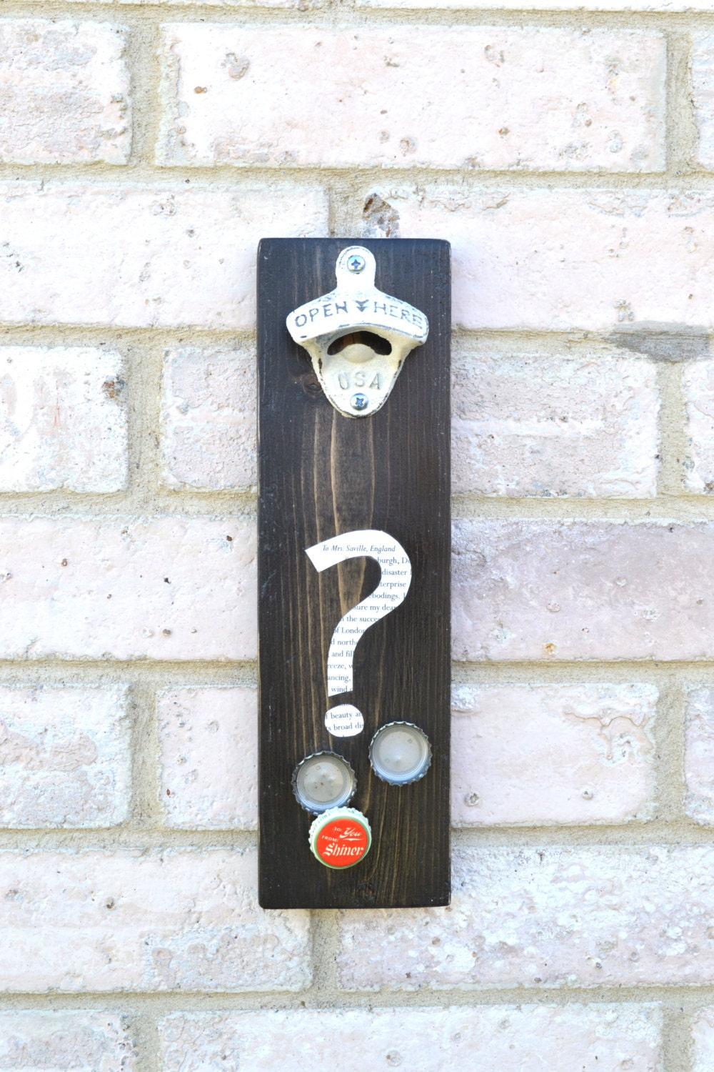 Question mark decor ampersand decor symbol wall hangings for Ampersand decoration etsy