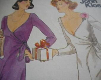 Vintage 1970's Butterick 5119 John Kloss Evening Dress Size 12 Bust 34