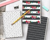 Be Brave Monochrome A5 Patterned Notebooks