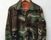 Rare Vintage STUSSY Outdoor all season gear Phantom Military MA-1 Style Camouflage Camo Alpha Flying Flight Army style Bomber Jacket