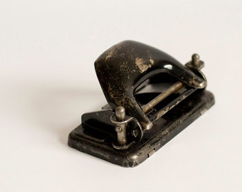 Vintage Hole Puncher, Antique Office Perforator, Old Office Hole Puncher