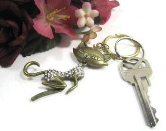 Sexy Cat Keyring, Key Ring, Keychain, Key Chain