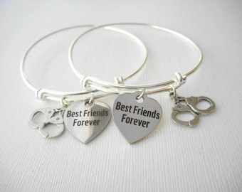 2 Partners in Crime, Handcuffs- Best Friends Forever Bracelets/ in Crime Jewelry, Bff Jewelry, Bff, Partner in Crime, Gift ideas