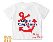 Little brother shirt Captain Red Tshirt - Personalized Little brother Shirt or Bodysuit - 043_BB_S2C_captain_red