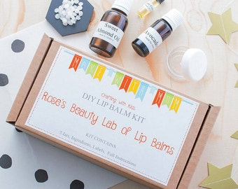 Make Your Own Lip Balm Kit - Lip Balm Making Kit - DIY Lip Balms - Natural Lip Balms - Kids Craft Kits - Personalised Kit