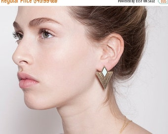 BIG SALE stud earrings, gold earrings, geometric earrings.