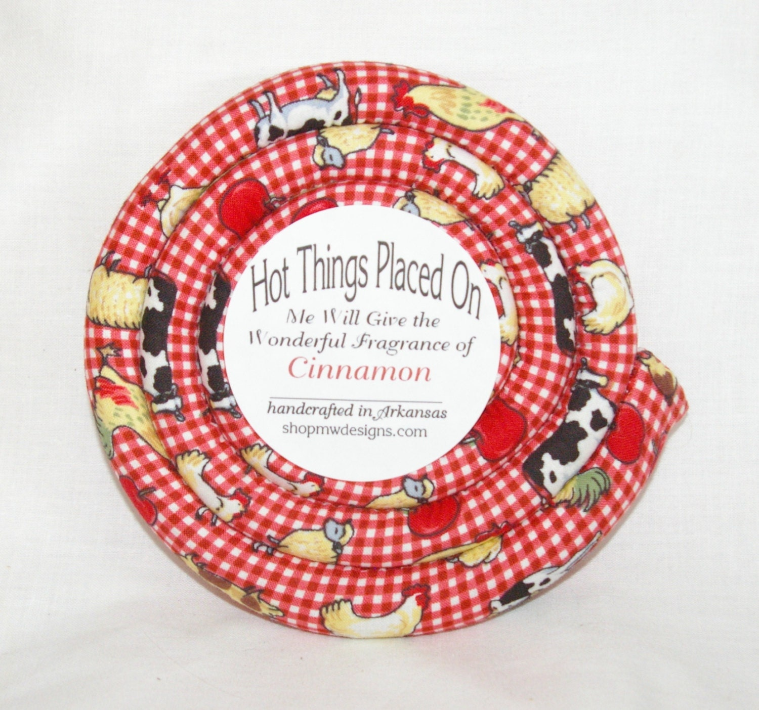 Kitchen Trivets: Scented Round Hot Pad Fabric Kitchen Trivet By Mwdesignsinc