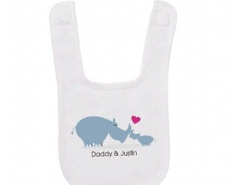 Customized Rhino Baby Bib