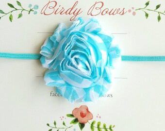 Aqua Chevron Baby Headband, Baby Girl Headbands, Infant Headbands, Newborn Headbands, Girl Headbands, Toddler Headbands, Baby Bow