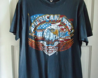 Vintage 70s/80s HARLEY DAVIDSON American Made T Shirt sz M