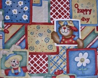 O Happy Day Fabric by Daisy Kingdomt 2 yd x 44 in