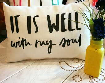 Well with my Soul pillow