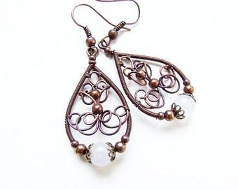 Jewelry Tutorial, Easy DIY Earrings Tutorial, For Her, Earrings Pattern, Retro Wire Wrapping Tutorial