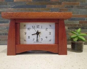 Mantel Clock, Lacewood Clock, Bungalow Clock, Craftsman Clock, Lacewood Clock, Mantle Clock, Desk Clock
