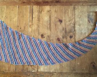 No Mistake (a Striped Dropped-Stitch Scarf)